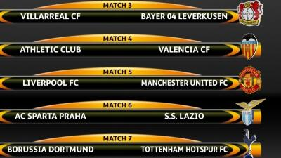 Sorteo octavos de final de la UEFA Europa League