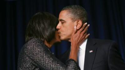 Michelle Obama está muy orgullosa de su esposo, el presidente Barack Obama.