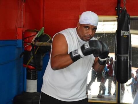 El Peso pesado cubano Odlanier Solís está entrenando para...