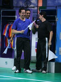 EL jugador mexicano (azul) tomo la bandera en segundo lugar, muy pegado...