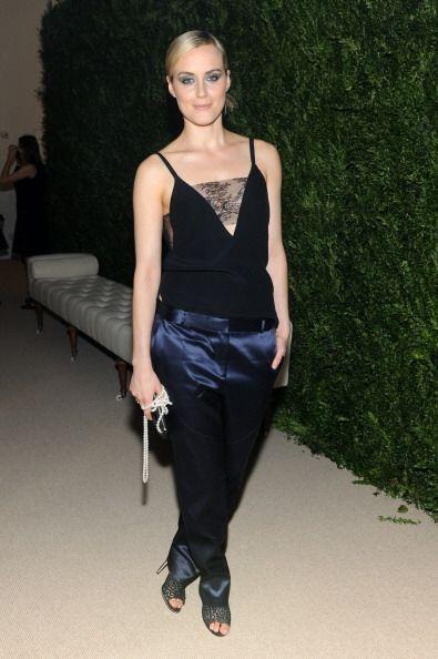 La actriz americana Taylor Schilling acudió a la cita con un pantalón sa...