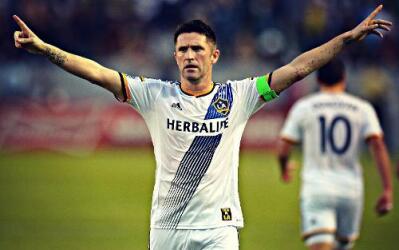 Robbie Keane celebra con LA Galaxy