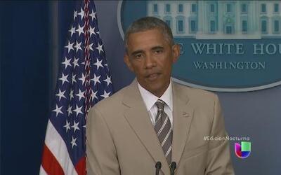 Obama reiteró su compromiso con una orden ejecutiva