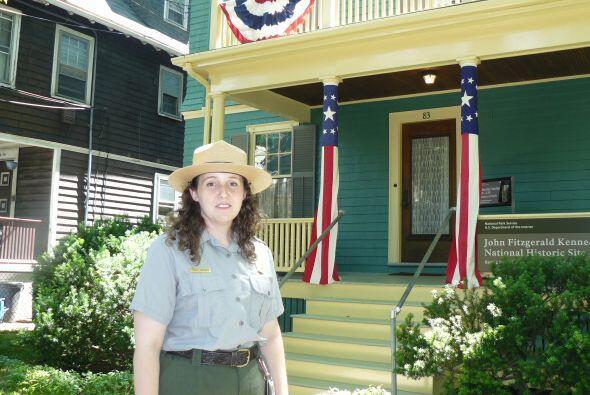 En el barrio de Brookline se encuentra la casa donde naciera el presiden...