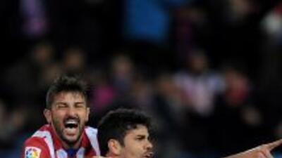 Villa gritó el gol de Costa, que le permite a los 'Colchoneros' ser líde...