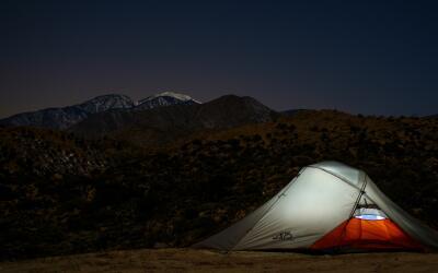 Las montañas son un buen lugar para acampar.