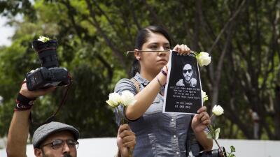 Manifestación por el esclarecimiento del crimen múltiple.