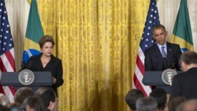 Dilma Rousseff y Barack Obama en la Casa Blanca.