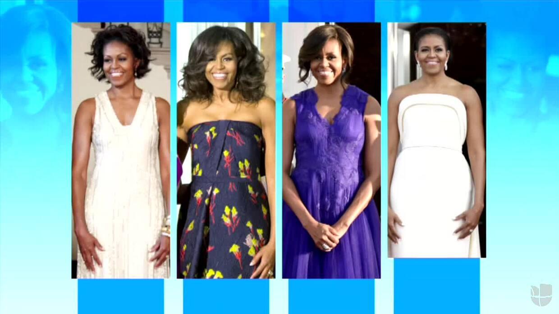 Los otros vestidos con los que Michelle Obama también brillo como Primer...