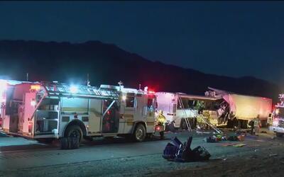 Accidente automovilístico dejó 13 personas muertas en el sur de California