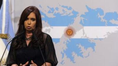 La presidenta Cristina Fernández de Kichner pide que se llegue a un acue...