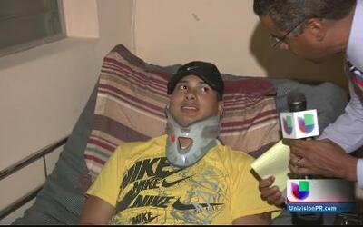 Policía herido en labores regresa a su hogar junto a su familia