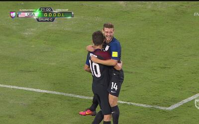 Estados Unidos marca el 4-0 y ya le está dando un baile a Trinidad y Tobago