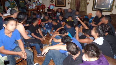 Los inmigrantes estaban hacinados en una casa de Edinburg, Texas