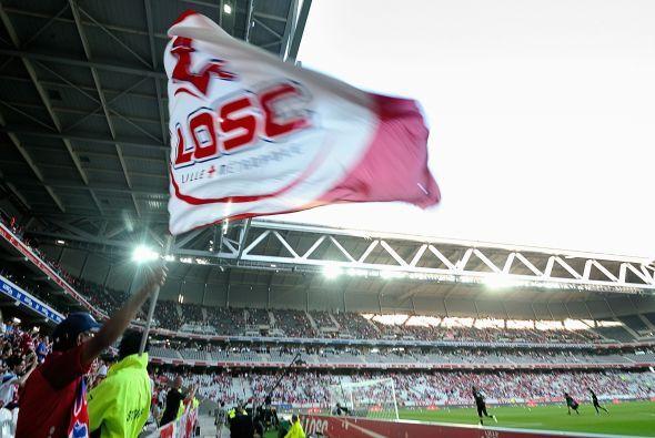 El estadio repleto para el encuentro Lille vs. Nancy en la liga francesa.
