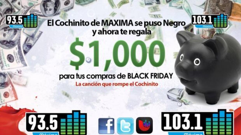 Gánate hasta $1000 dólares para tus compras de BLACK FRIDAY