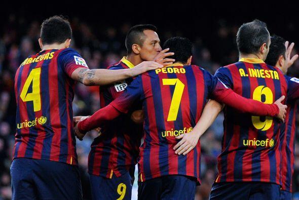 Triunfo final del Barcelona por 4-0, que además recuperó el liderato y e...