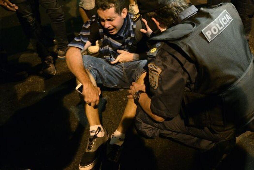 Un manifestante murió este jueves en el interior del estado de Sao Paulo...