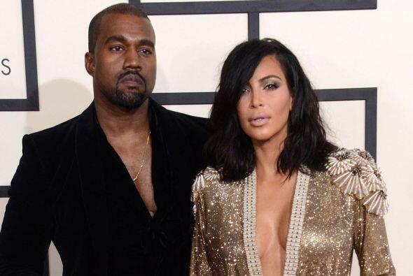 Así aparecieron Kim y Kanye en los GRAMMY.