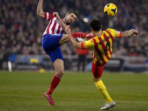 Atlético de Madrid y Barcelona se enfrentaron en el Estadio Vicente Cald...