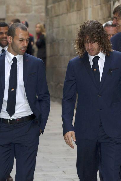 Javier Mascherano y Charles Puyol fueron otros jugadores que no contuvie...