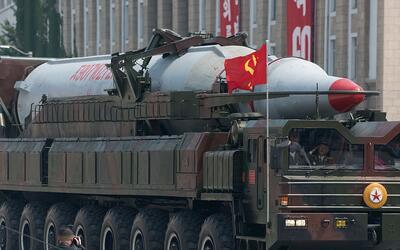 Misil mostrado en un desfile militar de Pyongyang