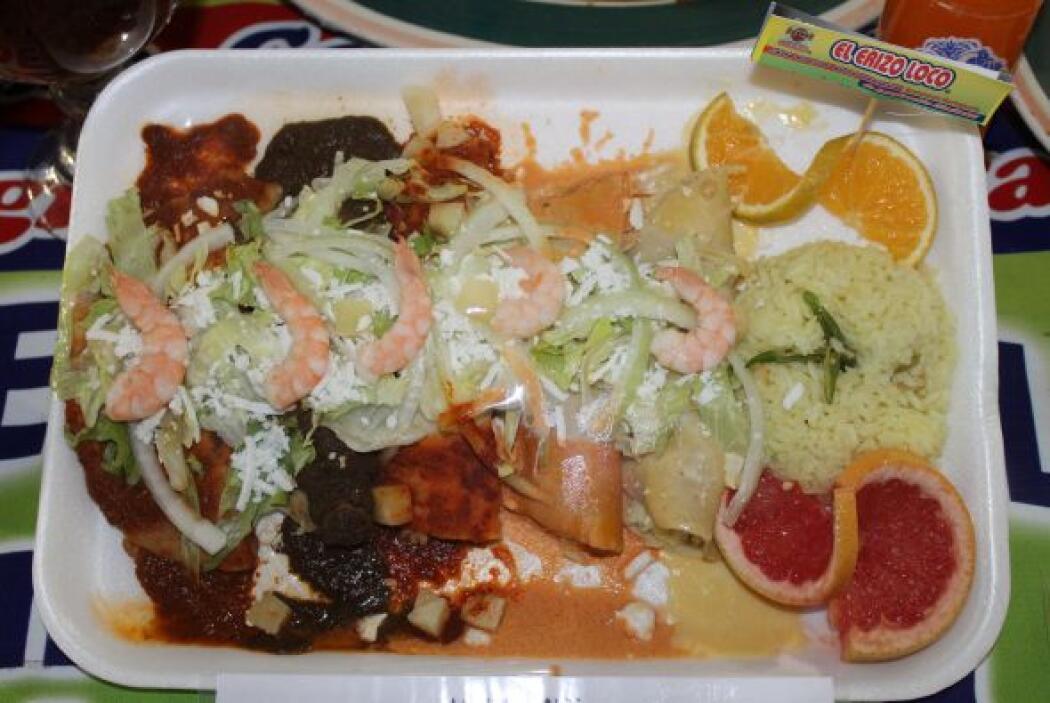 un arco-iris de color y sabor en tu plato con estas enchiladas multi-sal...
