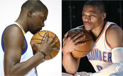 Kevin Durant y Russell Westbrook se verán las caras el 3 de novie...