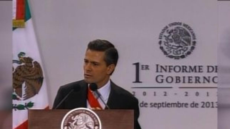 Peña Nieto dio su primer informe de gobierno