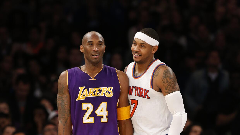 Carmelo fue algo mejor que Bryant al aportar 24 puntos, ocho rebotes y d...