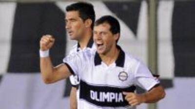 Freddy Barreiro fue uno de los goleadores en el 5-1 de Olimpia sobre Dep...