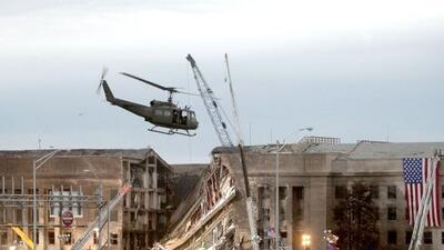 La imagen muestra la fachada del edificio del Pentágono, en Washington,...