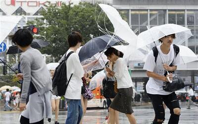 El tifón avanza hacia el norte con vientos sostenidos de 78 millas por h...