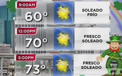 Viernes fresco y soleado para celebrar el Día de San Patricio en Miami