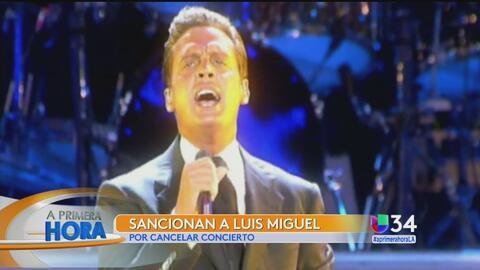 Anuncian sanciones contra Luis Miguel tras cancelar un concierto en México