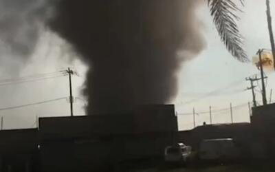 En video: Esta fue la tromba que aterrorizó una localidad de México