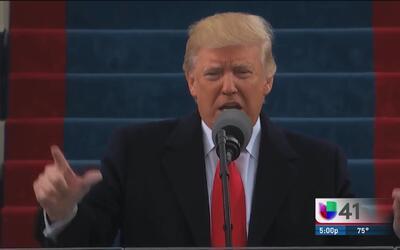 Durante su primer día de gestión Trump firma algunas acciones ejecutivas