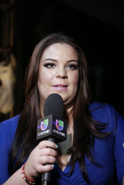 Yaza en plena entrevista con Univisión.