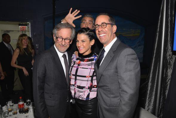 Parece que Steven Spielberg, Jessica y Jerry Seinfeld no se dieron cuent...