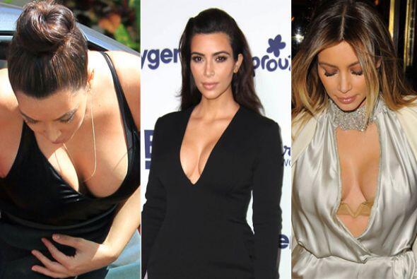 ¡Kim Kardashian adora enseñar sus encantos con prendas con poca tela y m...