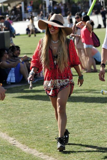 A Coachella continúan llegando celebridades con mucha moda y fres...