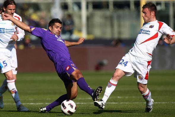 Asimismo, la Fiorentina dio un gran juego ante el Catania.