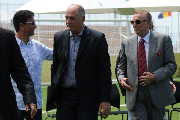 Bebeto, Scolari y Marin.