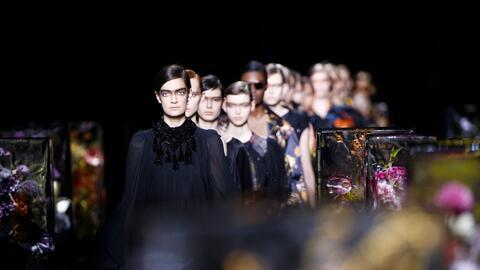 Backstage Paris Fashion Week.
