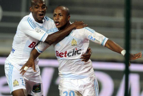 Esta semana marcó un gol en la contundente victoria del Olympique...
