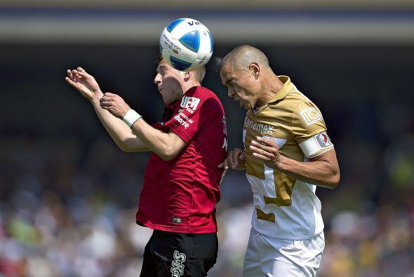Anotó su gol al minuto 34 en remate con la cabeza, no recibi&oacu...