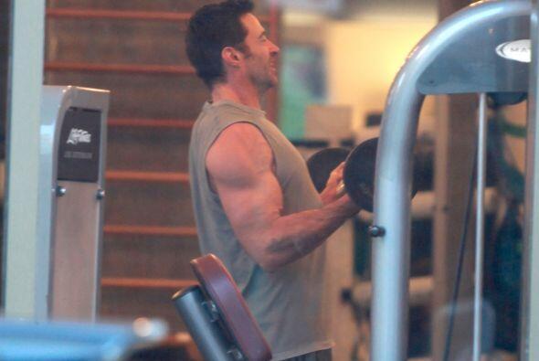 Hugh Jackman logra increíbles 'bíceps' con ayuda de su hija