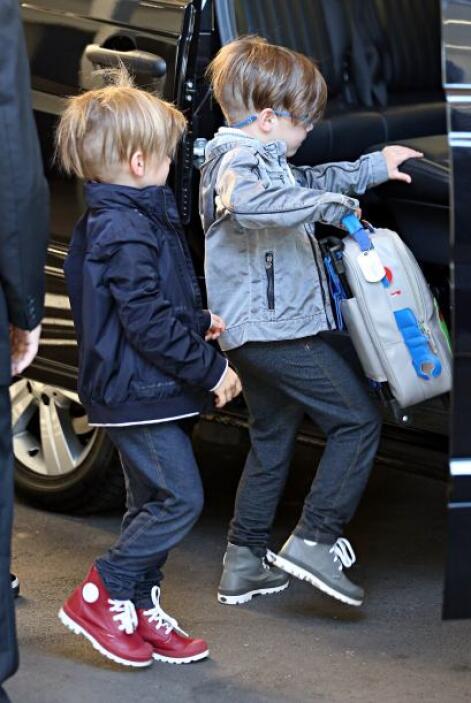 Los 'jeans' parecen ser las prendas favoritas de los gemelos Martin y lo...