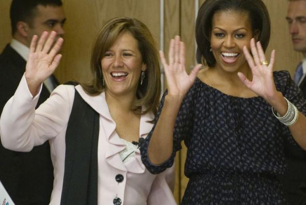 Margarita Zabala y Michelle Obama se despidieron de los pequeños con una...