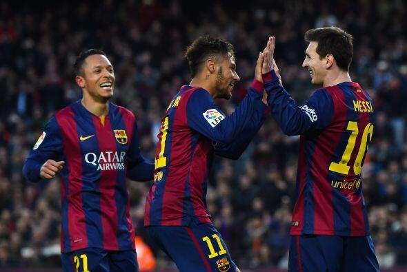 Lionel Messi anotaría su segundo gol en el partido al minuto 59 c...